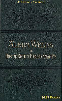 ALBUM WEEDS 3rd Edition VOLUME 1 A-L 587pp Detect Fake Forgery Forged Stamps -CD