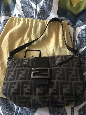 f9f3b7e162 Genuine Original Vintage Fendi Monogram Baguette Zucca Bag   Dustbag Circa  2001