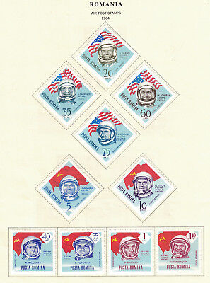 Romania 1964; #C151-C160 - Set 10 US & Russian Astronauts LH: Lot#1/24