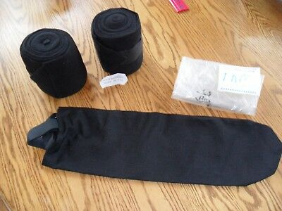 Horse Wear - 2 Polo Bandages & A Tail Bag - All New, Made In Usa!