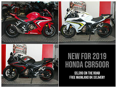NEW (2019 MODEL) Honda CBR500R ABS. IN STOCK NOW. £6,099 On The Road