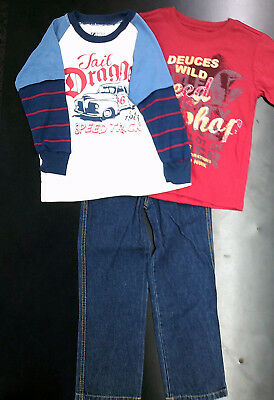 Toddler Boys & Boys 'Boyz Wear' 3PC. Long Sleeved T T-Shirt & Pants Sizes 2T-7