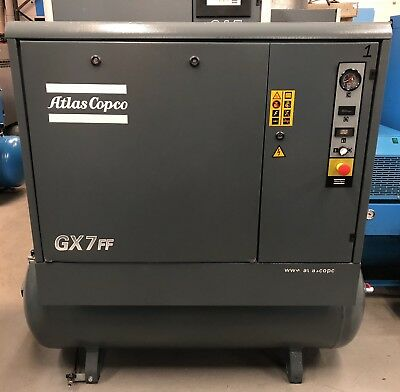 Atlas Copco GX7FF Receiver Mounted Rotary Screw Compressor With Dryer! 33Cfm!
