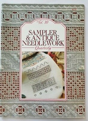 Sampler And Antique Needlework Quarterly Vol 10 Back Issue Magazine Cross Stitch
