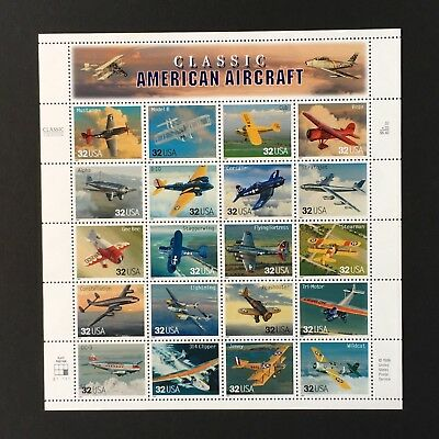 SCOTT 3142 US STAMP Sheet of 20 MNH Classic American Aircraft from 1997 at FV