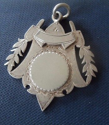 LARGE Sterling Silver Fob Medal 1901 Chester John Millward Banks - not engraved