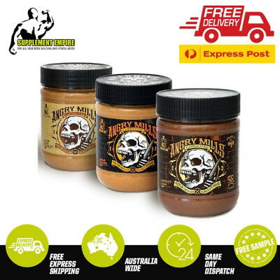 Sinister Labs Angry Mills CARAMEL Peanut Butter NonCaffeinated BOX 6 X 340g