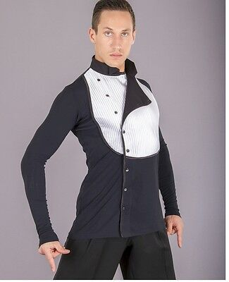 Men's DSI Competition Latin Shirt Black and White size Small 90% off RRP