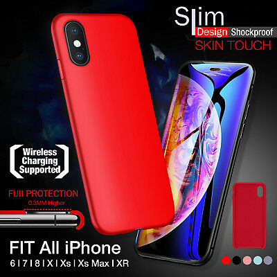 iPhone X XS MAX XR 8 7 6 Plus Case Ultra Slim Soft Silicone Cover Skin for Apple