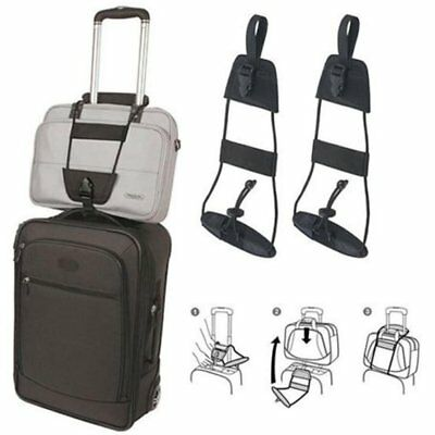 2Pcs Travel Luggage Suitcase Adjustable Belt Carry On Bungee Add A Bag Strap