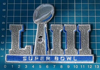 2019 Superbowl LIII 53rd SILVER Super Bowl NFL FOOTBALL Patch Jersey embroidery