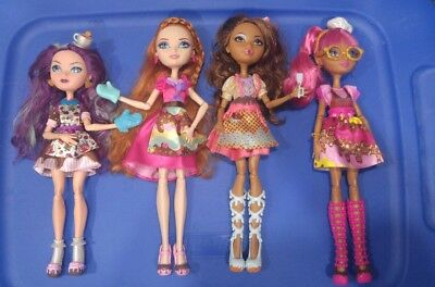 Ever After High Sugar Coated Near Complete Set Doll Lot Furniture Accessories