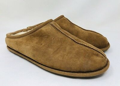 Kirkland Signature Men's Shearling Clog Slippers Chestnut, Pick A Size Pre-owned