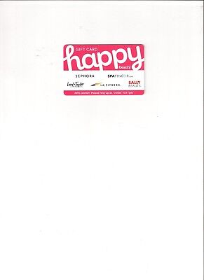 $50 Happy Beauty Gift Card-Sephora, Spa Finder, Lord & Taylor, LA Fitness, Sally