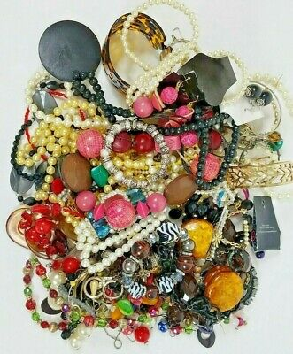 2.5+ Pounds Jewelry Lot Mixed Costume Fashion Craft Junk Repair Wearable