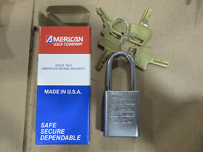 American Master Lock 5101 Pad Lock Long Shackle Keyed Alike with 4 Keys NEW!!!