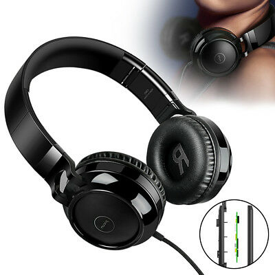 Foldable Over-Ear Headphones HIFI 4D Surround Sound Earphones Super Bass Headset