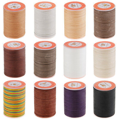 85M 0.45mm Leather Round Waxed Thread Cord Sewing Craft for DIY Stitching