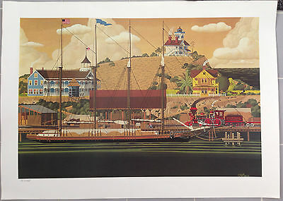 Herb Filmore Sea Port Deluxe Limited Edition Print