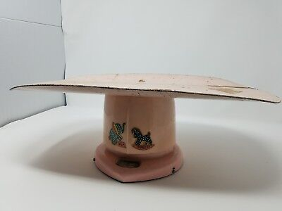Vintage-Baby-Scale-Pink-Metal-Scale-Antique Scale-Counselor Scale-1949