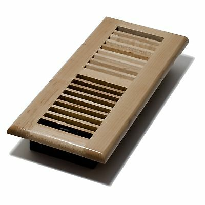 Decor Grates WML412-N 4-Inch by 12-Inch Floor Register Laquered, Natural Maple