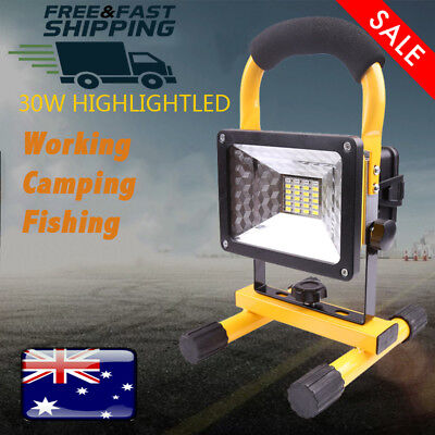 30W LED Portable Rechargeable Outdoor Work Flood Light Camping Fishing Lantern