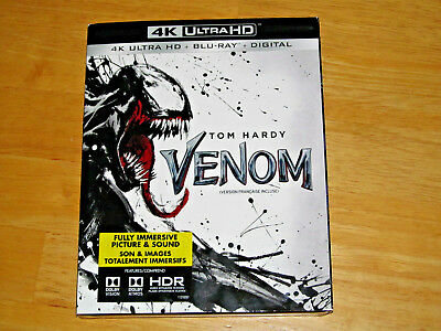 VENOM (4K Ultra HD, Blu-ray, 2018, Includes Digital Copy *NEW*)