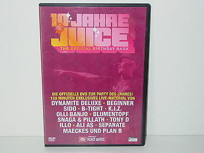 "*****DVD-V.A.""10 JAHRE JUICE-THE OFFICIAL BIRTHDAY BASH""-Juice*****"