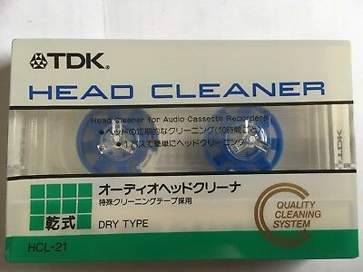 Tdk Hcl-21 Factory Sealed Head Cleaner Cassette Japan