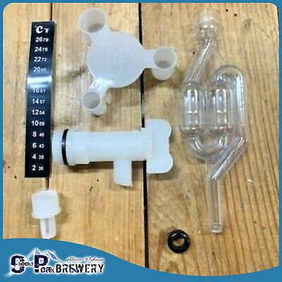 Beer/ Spirits Fermenter Kit- Airlock/Tap/Thermometer/ Sugar Scoop  - Home Brew
