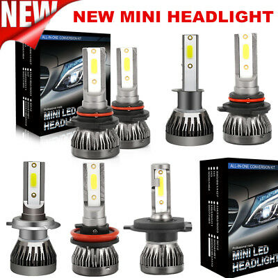 Pair Mini H1 H4 H7 H11 110W 20000LM Car CREE LED Headlight Bulbs Kit Xenon White