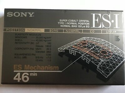 Sony Es-I 46 Factory Sealed Audio Cassette Japan