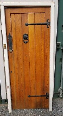 Fabulous reclaimed Solid wood front door with frame County style heavy oak grain