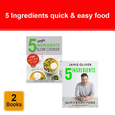 Jamie Oliver 5 ingredients quick & easy food and simple slow cooker 2 books set