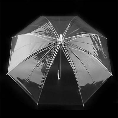 Dome Umbrella Transparent Clear See Through Plastic PVC Wedding Brolly AU