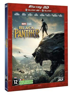 COMBO Blu Ray 3D + 2D Black Panther (MARVEL, AVENGERS) COMME NEUF