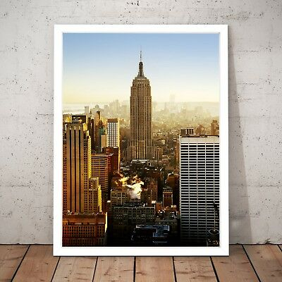 New York City Empire State Building Wall Art Poster Print - A3 A2 A1 A0 Framed