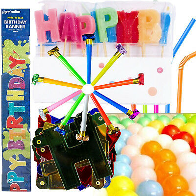 Happy Birthday Wedding Hen Party 30 Balloons Banners Candles Blowers Bedge Straw