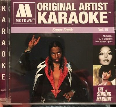 MOTOWN ORIGINAL ARTISTS, KARAOKE Super Freak Singing Machine CDG  Excellent