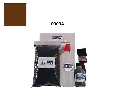 Cocoa Brown Small Flocking Kit Diy Dashboard Flock  Adhesive Applicator Craft