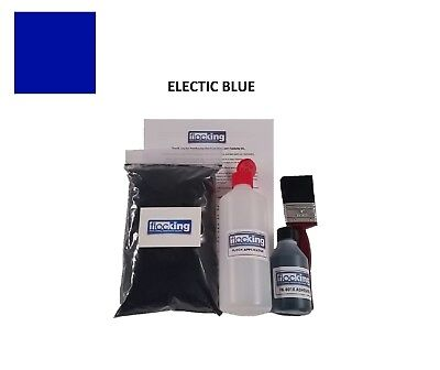 Electric Blue Flocking Kit Small-Dashboard Flock  Adhesive Applicator- Craft
