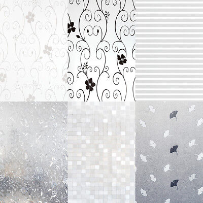 Privacy Frosted /3D Window Film Decorative Etched Glass Self Adhesive 2m Length