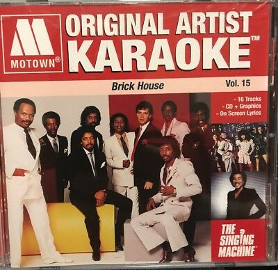 MOTOWN ORIGINAL ARTIST KARAOKE: BRICK HOUSE VOL. 15 CDG Used Once