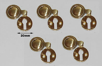 Solid brass key hole covered 5Pcs as a set (ref # 72)