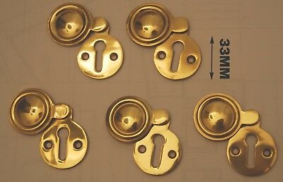 Solid brass key hole covered 5Pcs as a set (ref # 103)