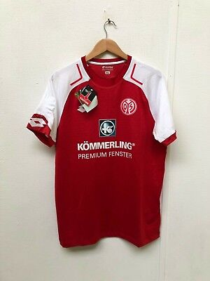 1. FSV Mainz 05 Lotto Men's 2017/18 Home Shirt - XL - No Name - New with Defects