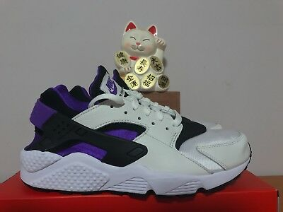735e10de62e1 Nike Air Huarache Run  91 QS Black Purple Punch White New Size 10  Ah8049