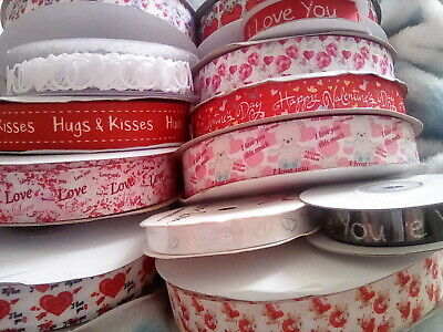 Large Selection of VALENTINE'S DAY Ribbon - Pull Bows - Foil Balloons