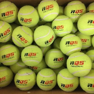 50 x AQS Tennis Balls Bright Green Bouncing Ball For Pets Puppy Play Dogs Toys
