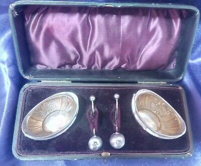 John Golding 1899 sterling silver salts original box - 40g magnificent gift